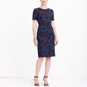 Jcrew fall floral short sleeve dress